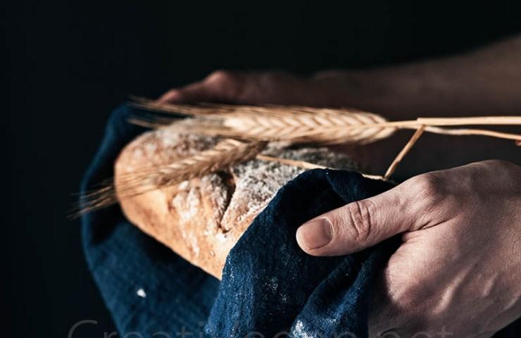 Pan de centeno sin amasado