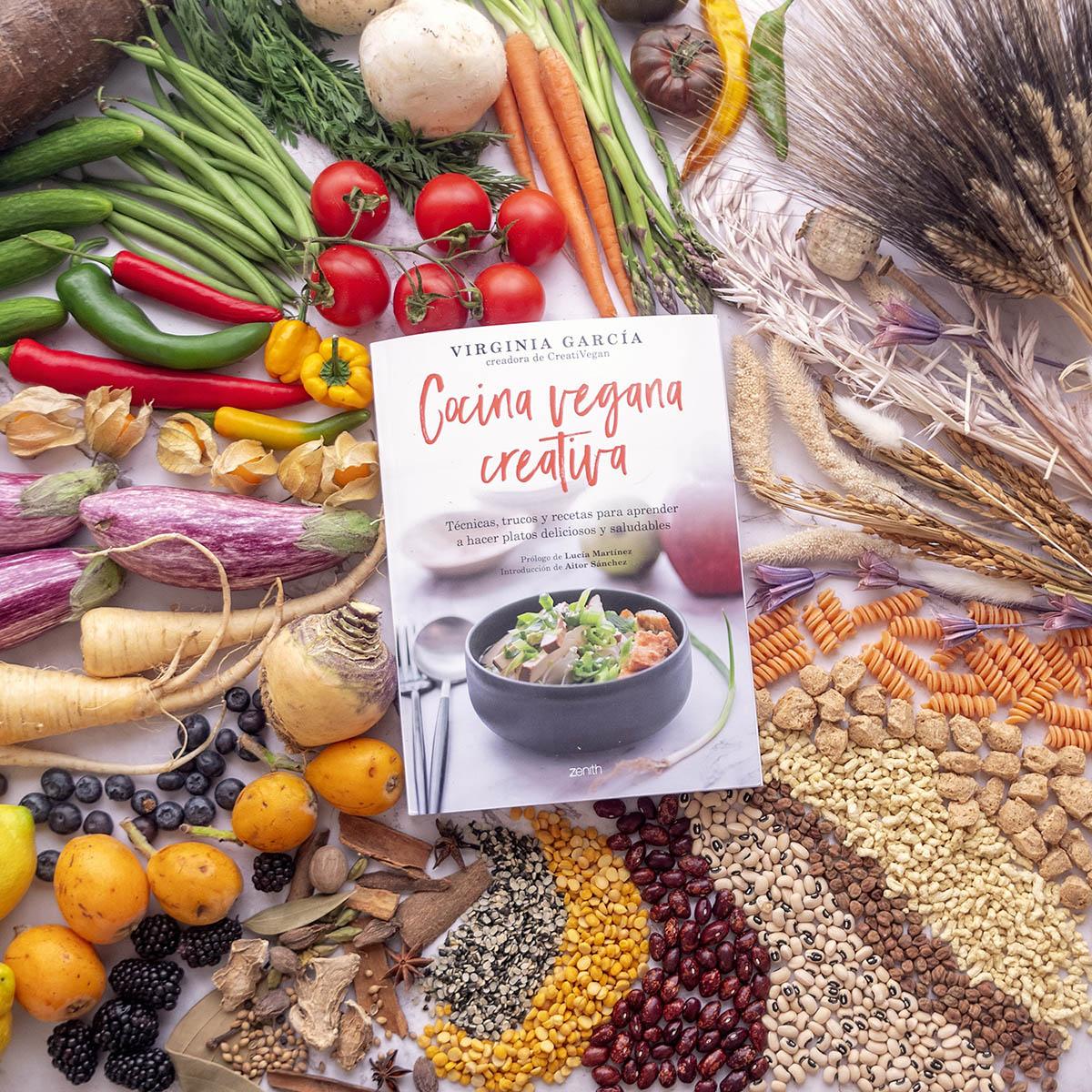 Imagen del libro Cocina Vegana Creativa de Virginia García, Ed. Planeta.