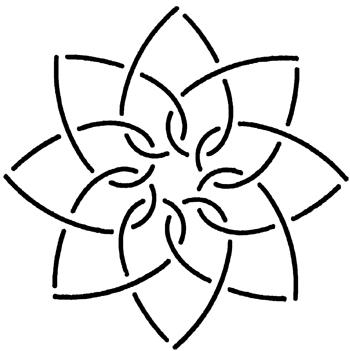 Creative Grids (UK) LTD Quilt Stencil Interlocking Hearts 5''