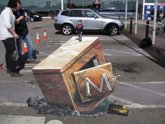 366784a44c1661b9221a854314b014af 55+ Amazing 3D Street Art Guerrilla Marketing Examples Guerilla Marketing Example