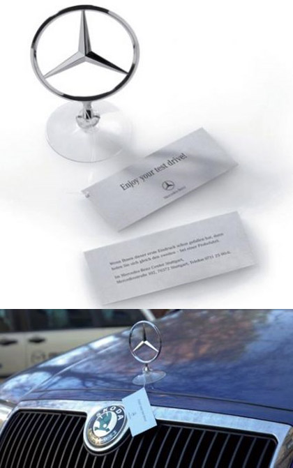 mercedes guerilla marketing example