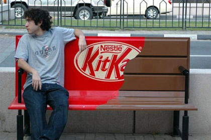 kitkat guerilla marketing advertisement