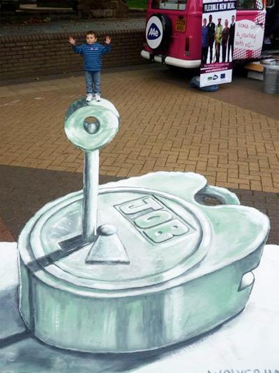 96bb5e67825a47b428723a93abef059e 55+ Amazing 3D Street Art Guerrilla Marketing Examples Guerilla Marketing Example