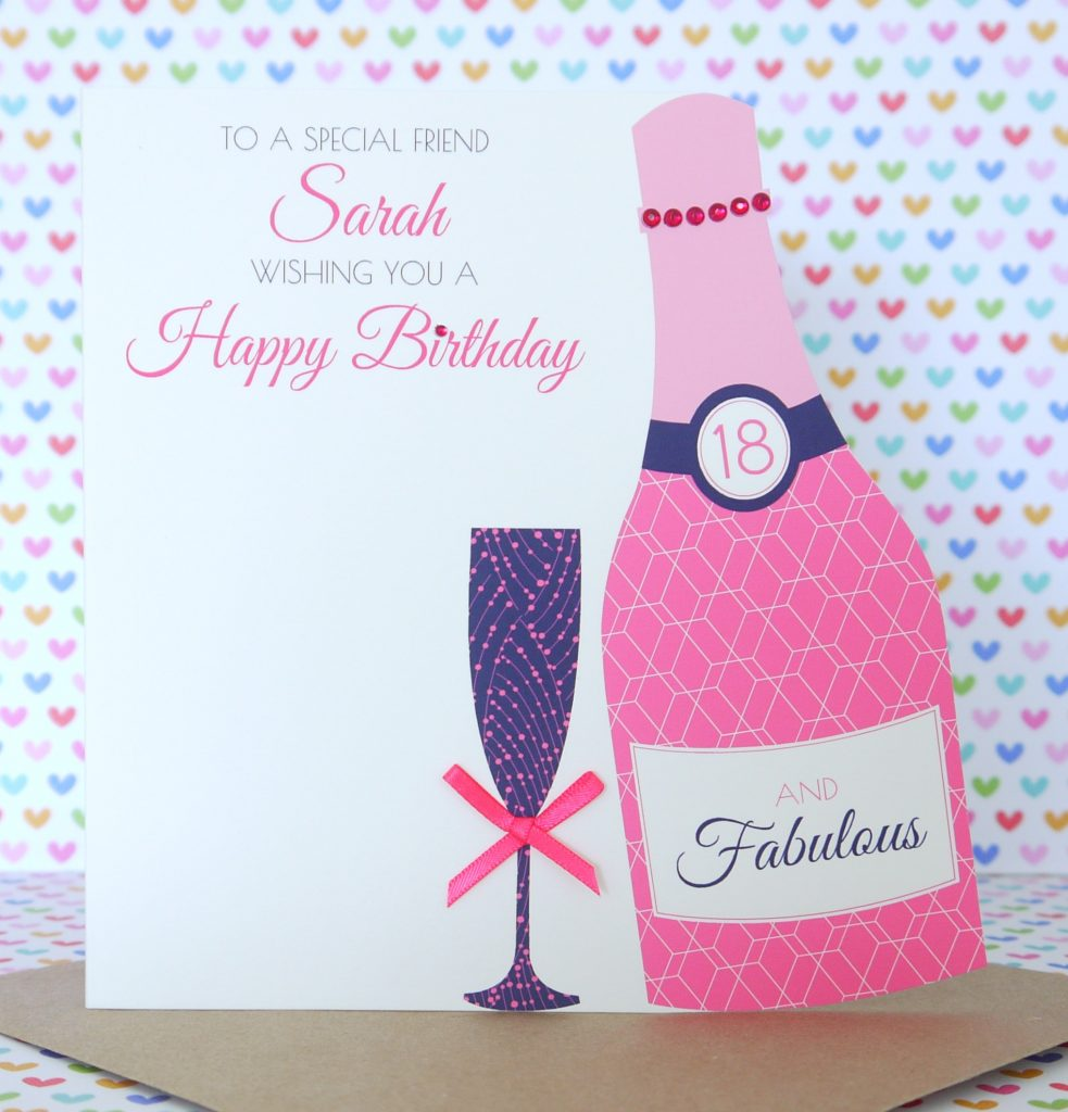 Personalised Handmade Birthday Card 18th 21st 30th 40th