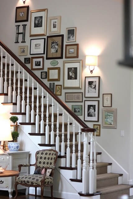Gallery Wall Goals Stair