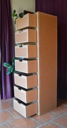 Cardboar Furniture Storage Ideas