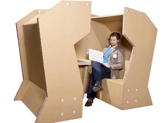 Cardboard Office Desk Design
