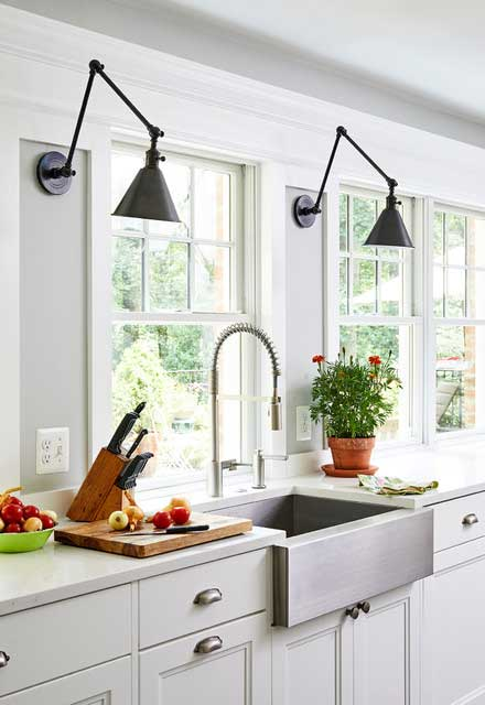 Modern farmhouse kitchen sink ideas