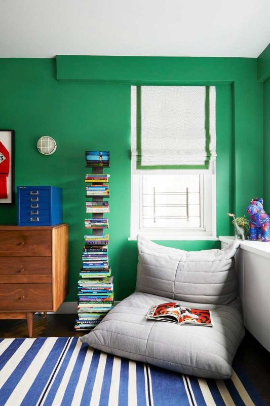 green aesthetic choice for a kids room