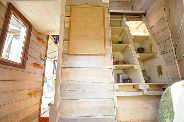 Great ideas for stair wood tiny house