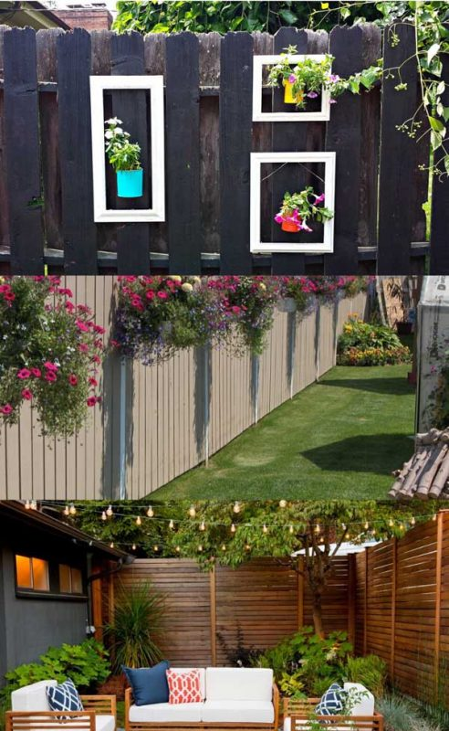 Bes garden fence deacoration ideas pinterest