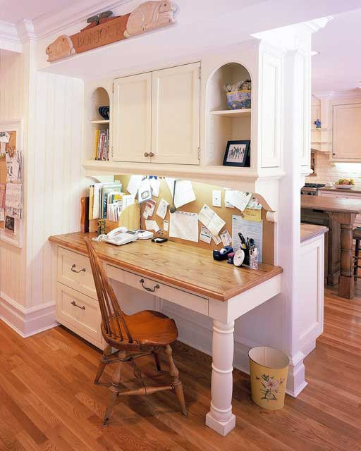 traditional touch to this kitchen