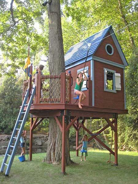 Treehouse with Zip Line