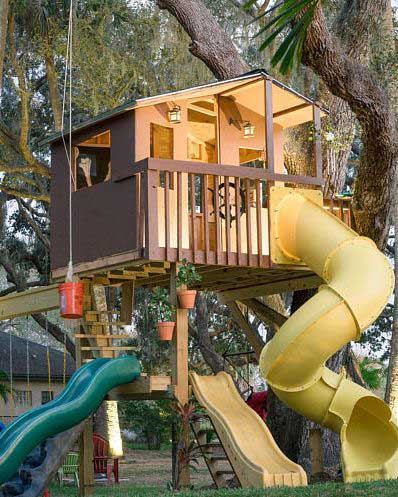 Treehouse with Swing Set ON ETSY