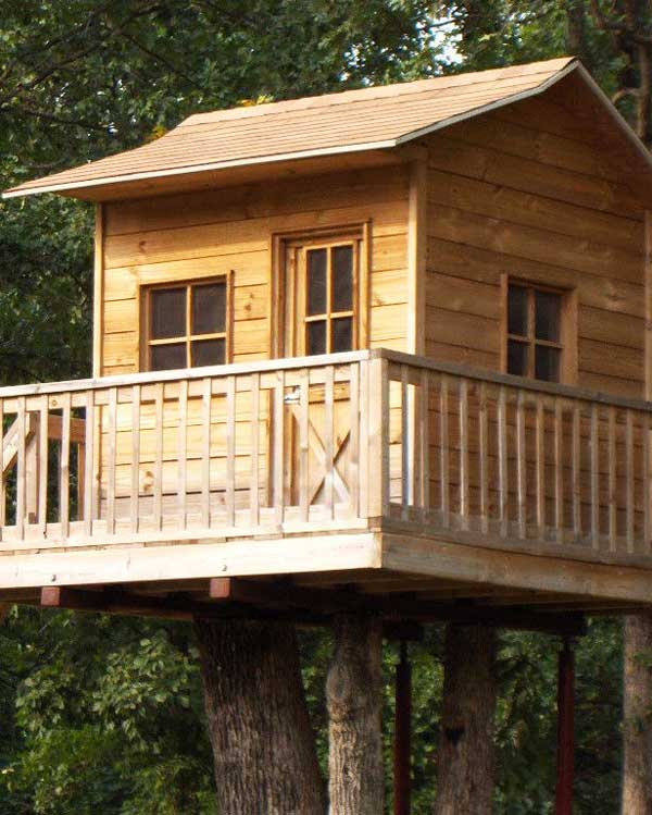 Treehouse with porch for sale