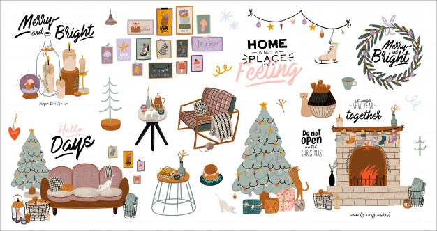 Christmas Decor Ideas (Backgound Vector)