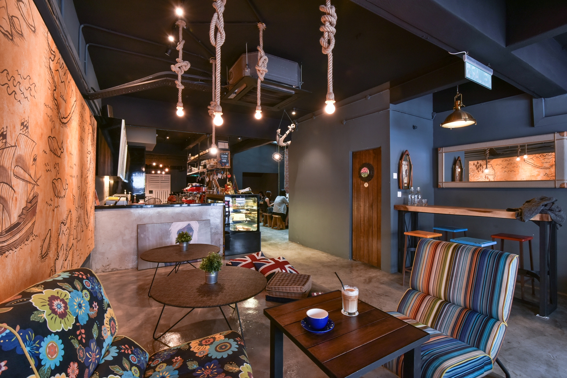 Industrially Fresh A Nautical Themed Caf With A Fusion