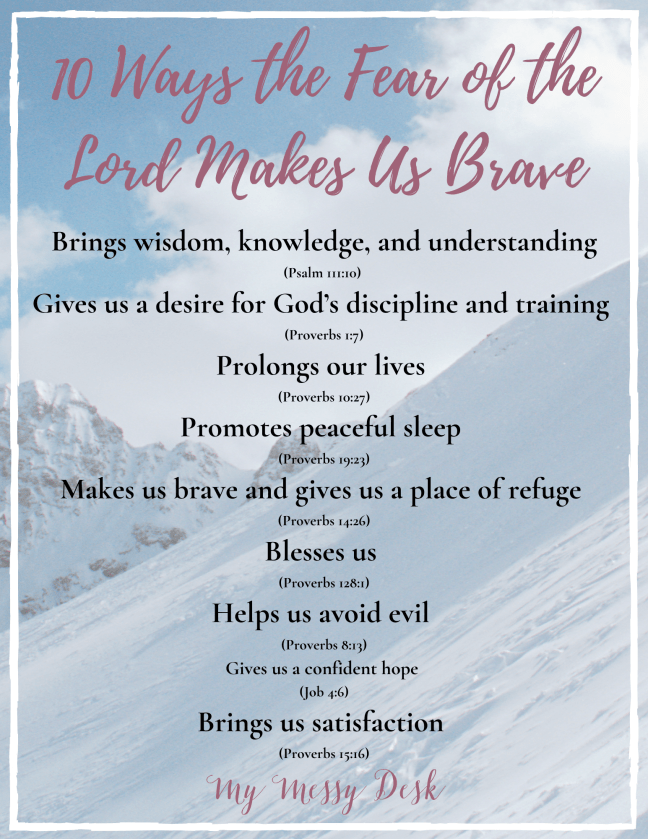 10 Ways the Fear of the Lord Makes Us Brave Printable