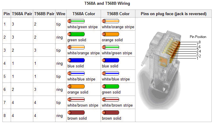 Cat5 Male Connector Wiring Rj45 T568a And T568b Wire Diagram Creative It Resources