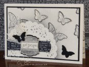 creativeJax - Doilie Masking. Papillon Potpourri, Label Love. Bitty Butterfly punch