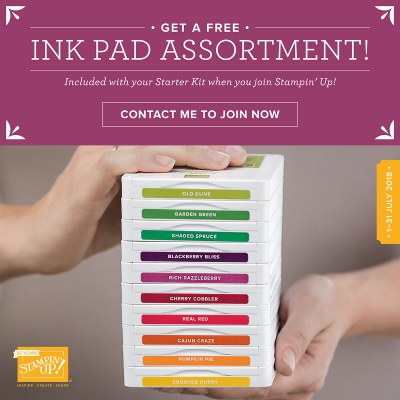 Join Stampin' Up1 and get 10 free ink pads.