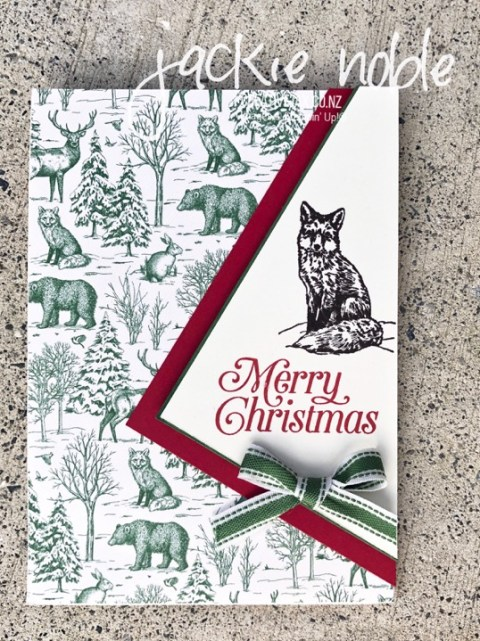 Foxy Toile Christmas Card