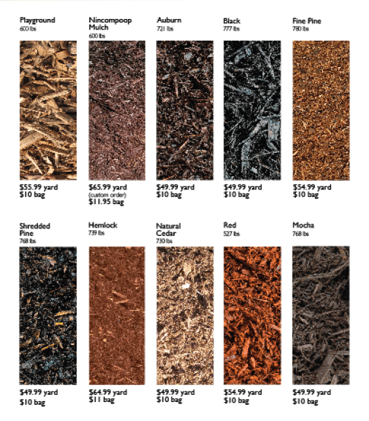 Mulch for sale at our depot and pricing when you buy in bulk