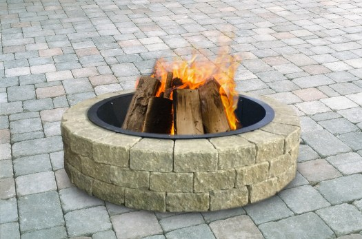 Quickwall  round wood burning fire pit