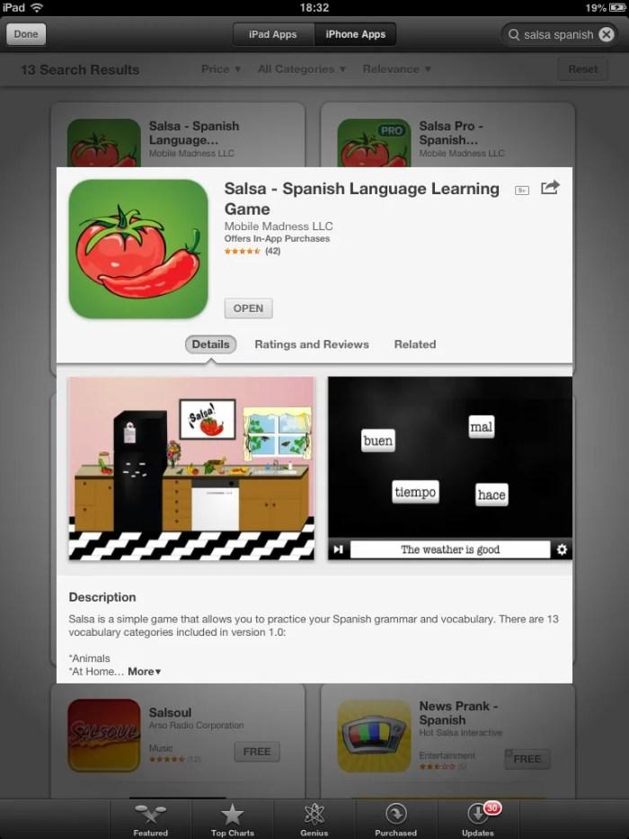 Salsa - app store