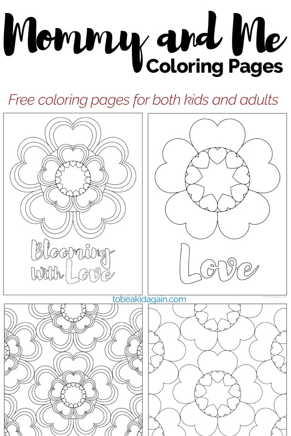 Mommy And Me Coloring Pages Heart Flowers For Valentines Day And Beyond Creative Little Explorers