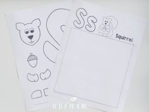 S is for Squirrel Cut and Paste Alphabet Activity 1
