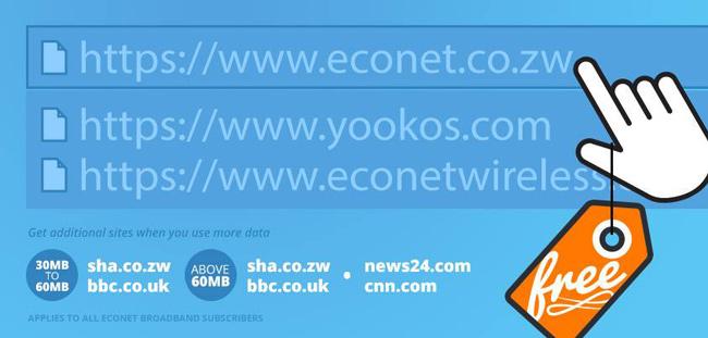 Econet promo material advertsing sha.co.zw