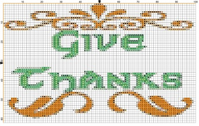 Free Thanskgiving Cross Stitch Pattern - Click to Get PDF