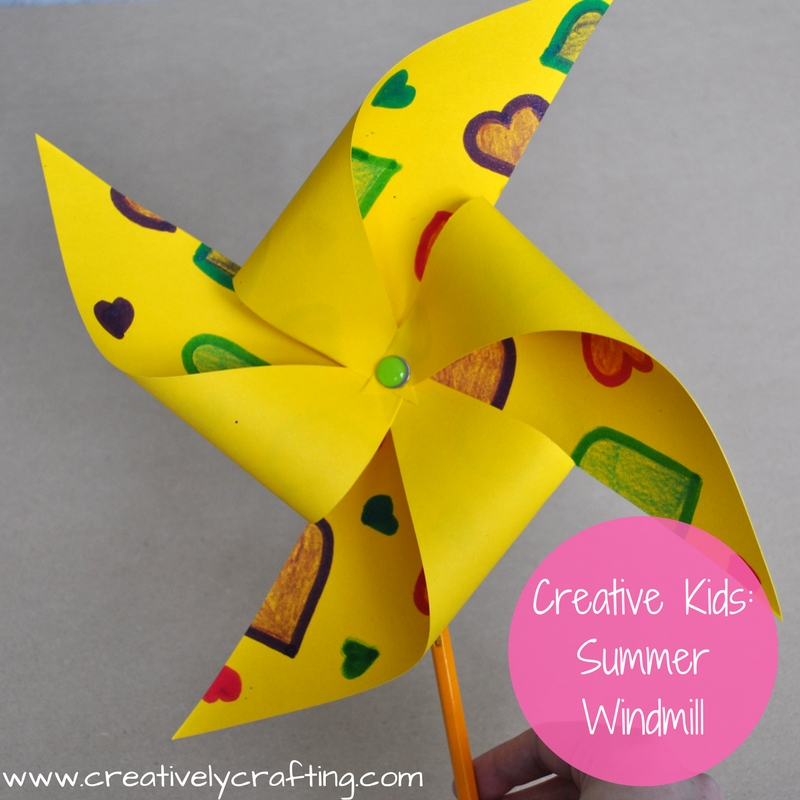 Summer Craft Ideas For Kids Summer Windmill Creatively Crafting