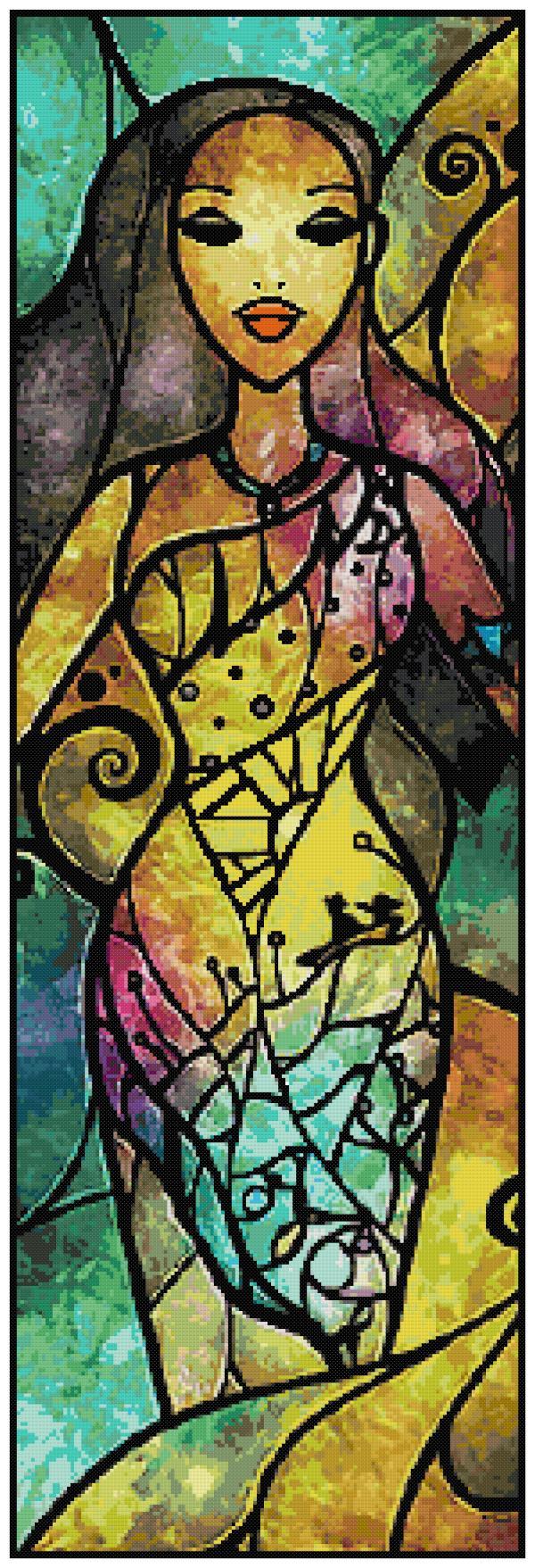 Pocahontas Cross Stitch Pattern