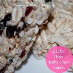 Love your Rice Crispy Squares - here's some healthy crispy squares (well healthier)