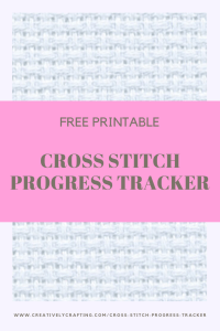 cross stitch progress tracker