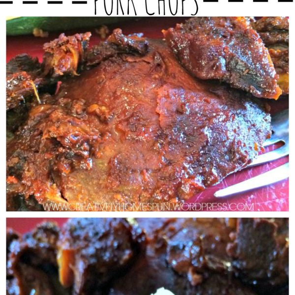 Savory Slow Cooker Sweet & Spicy Pork Chops