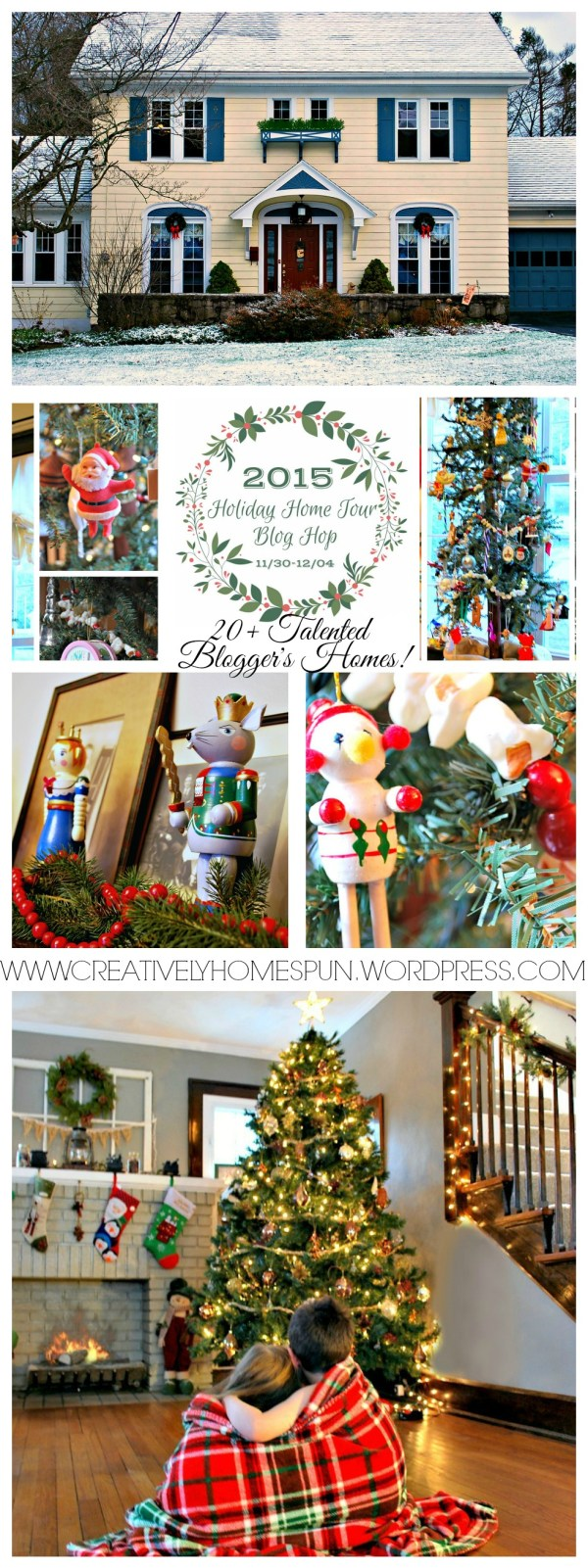 24 Talented Bloggers teamed together to create the BEST list of Home Tours you will find! 2015 Holiday Home Tour is up on the blog! Stop by and take a look at how I filled our 1920's home with the Christmas Spirit! h