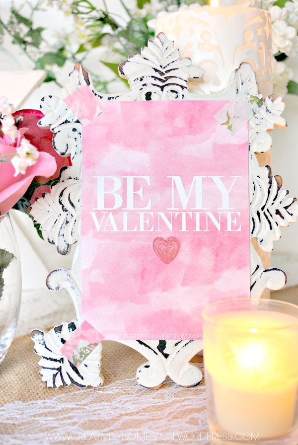 Watercolor Valentines! Free Valentine's Day Printables #valentines #freeprintable #watercolor #DIYVALENTINE