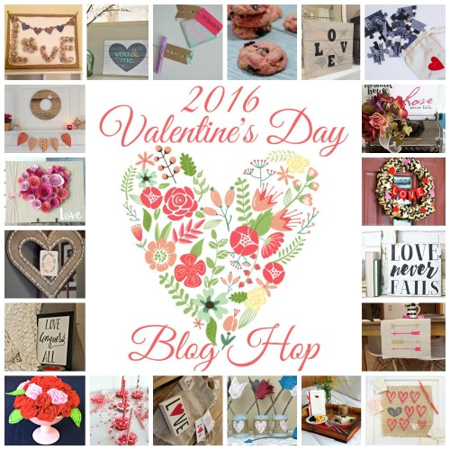 2016 Valentine's Day Blog Hop || 20 Bloggers share their #Valentinesday Creations! #DIY #CRAFT #DIYDECOR #Bloghop