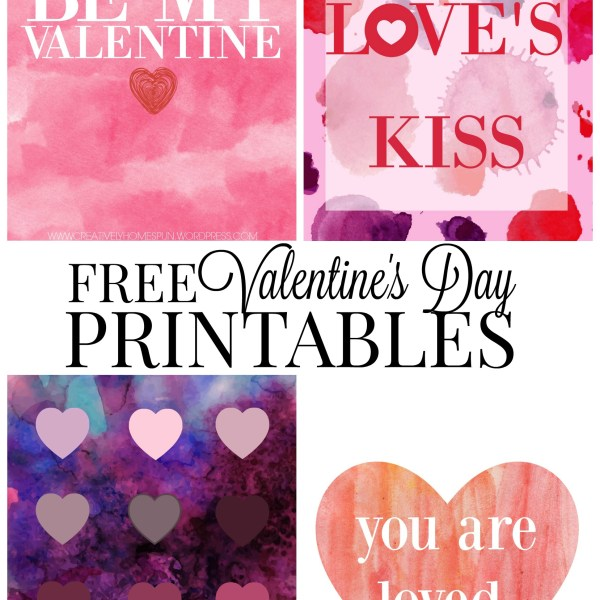 Watercolor Valentine's Day: Free Printables