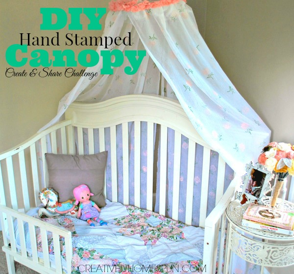 August Create & Share Challenge: DIY Hand Stamped Canopy