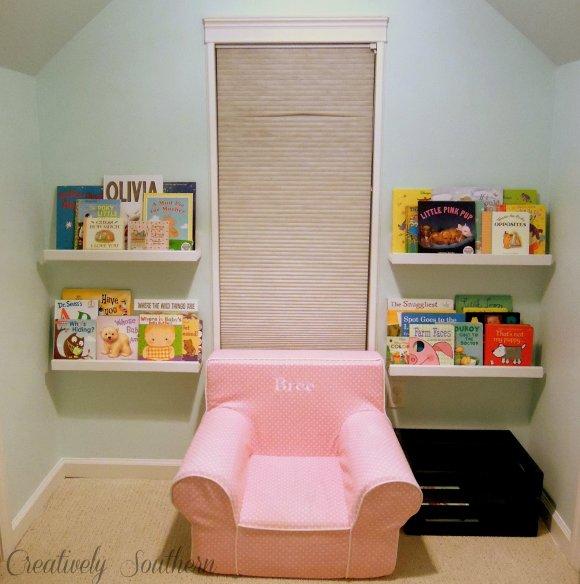 Reading Nook shelves