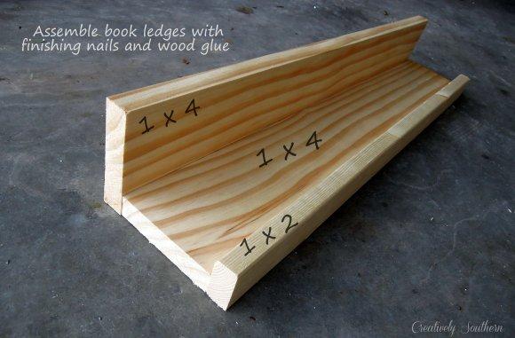 build a wooden bookshelf
