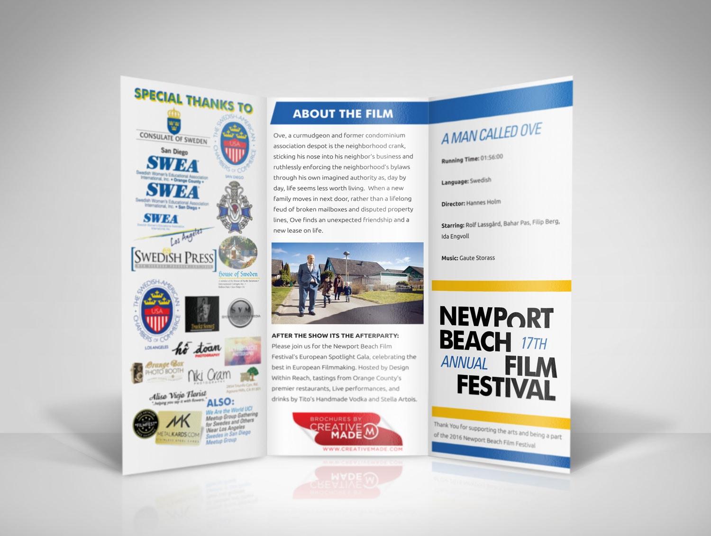 The newport beach film festival european spotlight brochures for Festival brochure design