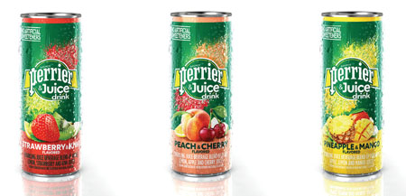 Perrier Launches Perrier & Juice Drink