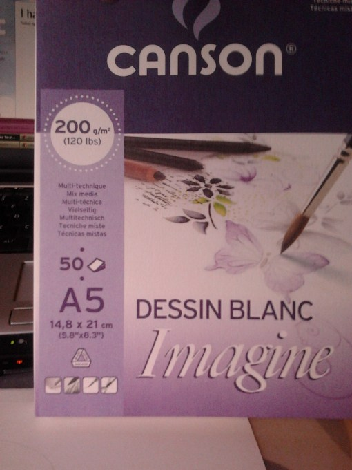 Canson Paper for MIXED MEDIA 200 gr/m2 (120 lbs) @ http://creativemag.ro