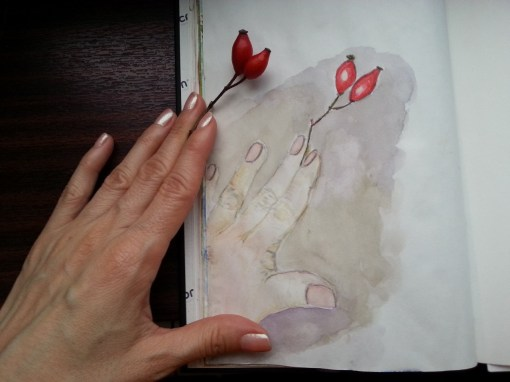 Watercolor Hand by Cristina Parus Art @ CreativMAG.ro
