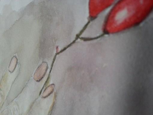 Watercolor Hand by Cristina Parus Art @ CreativMAG.ro